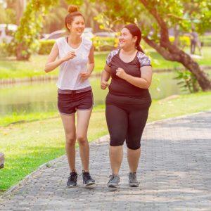Amies - jogging - course à pied - parc