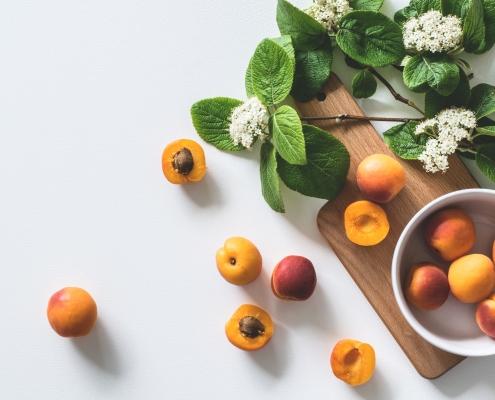 Abricots - feuilles de menthe - recettes - été