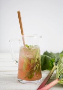Thé glacé - rhubarbe - recette - été