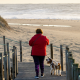 Exercice - santé - plage - marche - chien