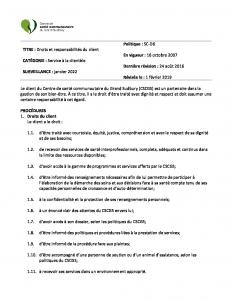 thumbnail of Droits et responsabilités du client SCD6