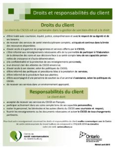 thumbnail of Droits et responsabilités du client