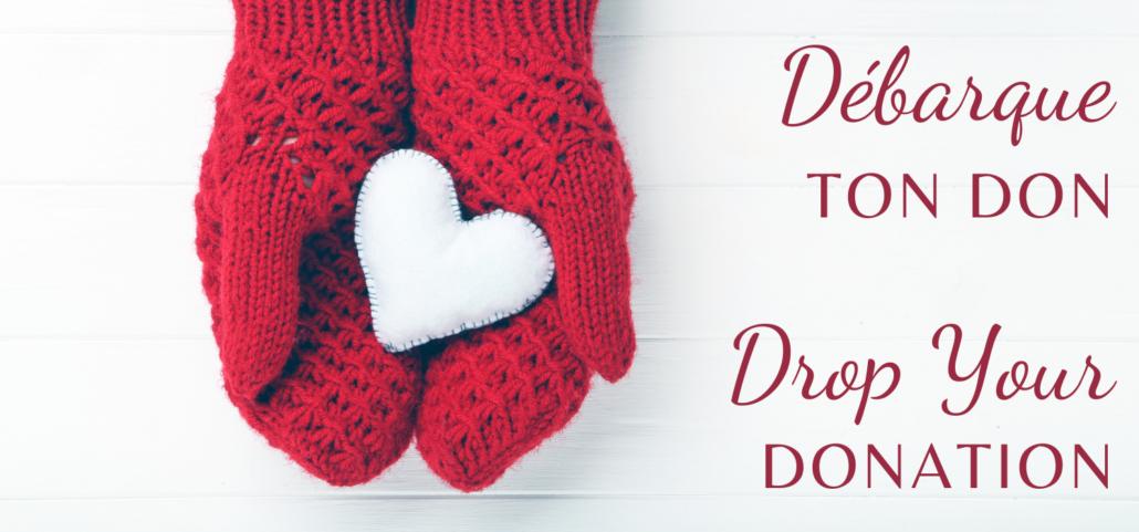 Communiqué - Débarque ton don - Drop your donation