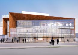Une image de l'édifice de la Place des Arts à Sudbury