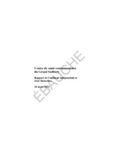 thumbnail of CSC Sudbury_ébauche des états financiers 2021